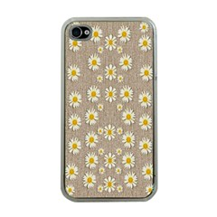 Star Fall Of Fantasy Flowers On Pearl Lace Apple Iphone 4 Case (clear)