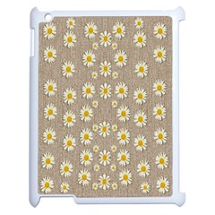 Star Fall Of Fantasy Flowers On Pearl Lace Apple Ipad 2 Case (white)