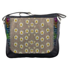 Star Fall Of Fantasy Flowers On Pearl Lace Messenger Bags