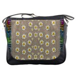 Star Fall Of Fantasy Flowers On Pearl Lace Messenger Bags Front