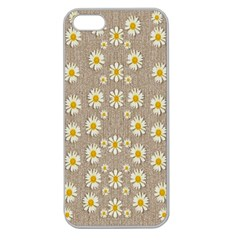 Star Fall Of Fantasy Flowers On Pearl Lace Apple Seamless Iphone 5 Case (clear)