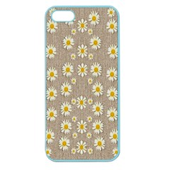 Star Fall Of Fantasy Flowers On Pearl Lace Apple Seamless Iphone 5 Case (color)