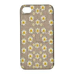 Star Fall Of Fantasy Flowers On Pearl Lace Apple Iphone 4/4s Hardshell Case With Stand