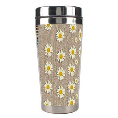 Star Fall Of Fantasy Flowers On Pearl Lace Stainless Steel Travel Tumblers