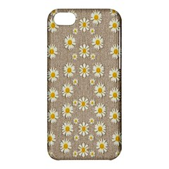 Star Fall Of Fantasy Flowers On Pearl Lace Apple Iphone 5c Hardshell Case