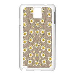 Star Fall Of Fantasy Flowers On Pearl Lace Samsung Galaxy Note 3 N9005 Case (white)