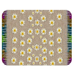 Star Fall Of Fantasy Flowers On Pearl Lace Double Sided Flano Blanket (medium)