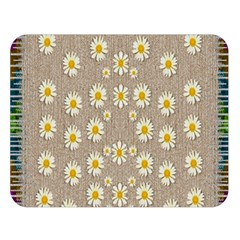 Star Fall Of Fantasy Flowers On Pearl Lace Double Sided Flano Blanket (large)