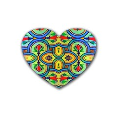 L ooera In Lyrical Abstraction Rubber Coaster (heart)
