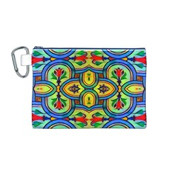 L ooera In Lyrical Abstraction Canvas Cosmetic Bag (m)