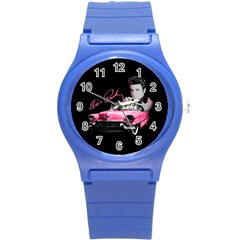 Elvis Presley s Pink Cadillac Round Plastic Sport Watch (s)