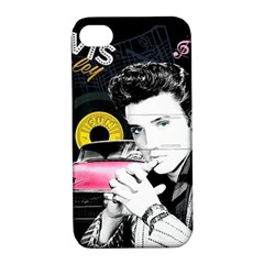 Elvis Presley Collage Apple Iphone 4/4s Hardshell Case With Stand