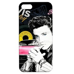 Elvis Presley Collage Apple Iphone 5 Hardshell Case With Stand
