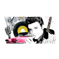 Elvis Presley Collage Satin Wrap