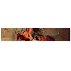 Awesome Horse  With Skull In Red Colors Flano Scarf (large)