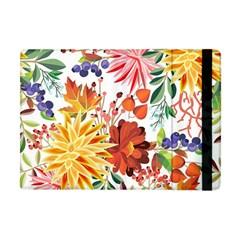 Autumn Flowers Pattern 1 Apple Ipad Mini Flip Case