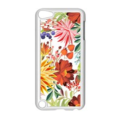 Autumn Flowers Pattern 1 Apple Ipod Touch 5 Case (white)
