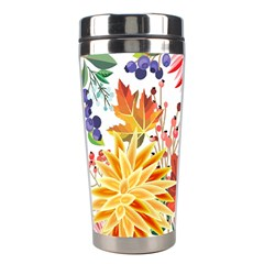 Autumn Flowers Pattern 1 Stainless Steel Travel Tumblers