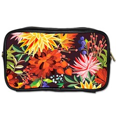 Autumn Flowers Pattern 2 Toiletries Bags
