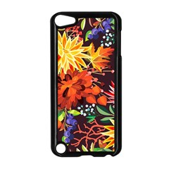 Autumn Flowers Pattern 2 Apple Ipod Touch 5 Case (black)