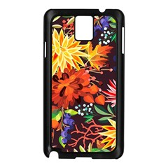 Autumn Flowers Pattern 2 Samsung Galaxy Note 3 N9005 Case (black)