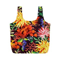 Autumn Flowers Pattern 2 Full Print Recycle Bags (m)