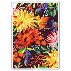Autumn Flowers Pattern 2 Apple Ipad Pro 9 7   White Seamless Case