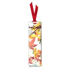 Autumn Flowers Pattern 3 Small Book Marks