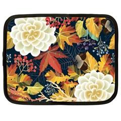 Autumn Flowers Pattern 4 Netbook Case (xxl)
