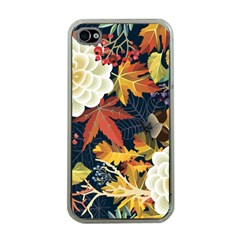 Autumn Flowers Pattern 4 Apple Iphone 4 Case (clear)