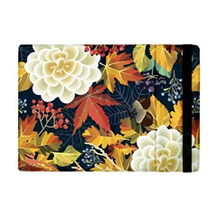 Autumn Flowers Pattern 4 Apple Ipad Mini Flip Case