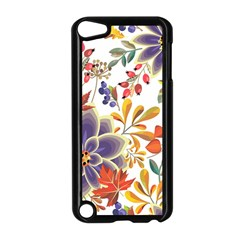 Autumn Flowers Pattern 5 Apple Ipod Touch 5 Case (black)