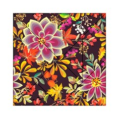 Autumn Flowers Pattern 6 Acrylic Tangram Puzzle (6  X 6 )