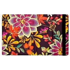 Autumn Flowers Pattern 6 Apple Ipad 2 Flip Case