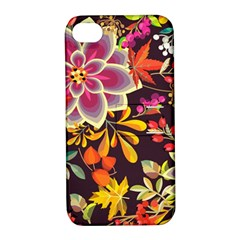 Autumn Flowers Pattern 6 Apple Iphone 4/4s Hardshell Case With Stand