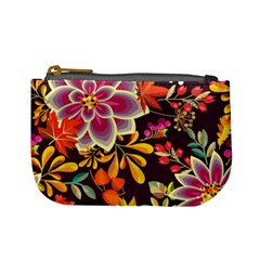 Autumn Flowers Pattern 6 Mini Coin Purses