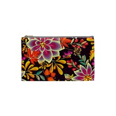 Autumn Flowers Pattern 6 Cosmetic Bag (small)