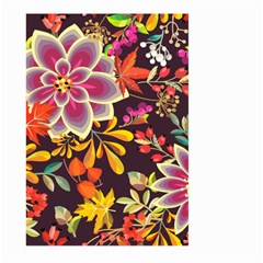 Autumn Flowers Pattern 6 Large Garden Flag (two Sides)