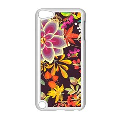 Autumn Flowers Pattern 6 Apple Ipod Touch 5 Case (white)