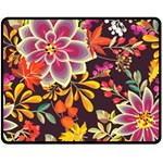 Autumn Flowers Pattern 6 Double Sided Fleece Blanket (Medium)  58.8 x47.4 Blanket Back