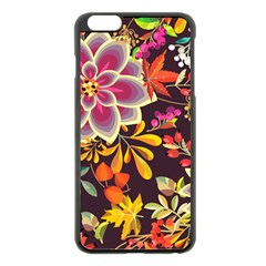 Autumn Flowers Pattern 6 Apple Iphone 6 Plus/6s Plus Black Enamel Case