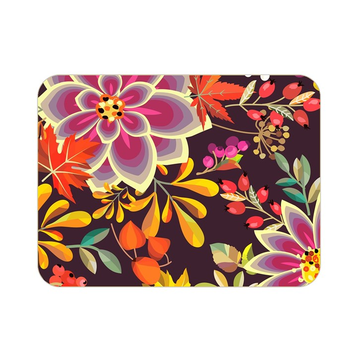 Autumn Flowers Pattern 6 Double Sided Flano Blanket (Mini)