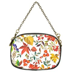 Autumn Flowers Pattern 7 Chain Purses (two Sides)