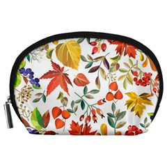 Autumn Flowers Pattern 7 Accessory Pouches (large)