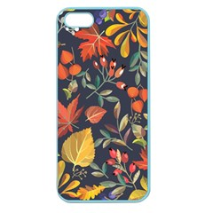 Autumn Flowers Pattern 8 Apple Seamless Iphone 5 Case (color)
