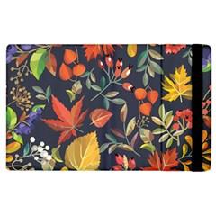 Autumn Flowers Pattern 8 Apple Ipad 3/4 Flip Case