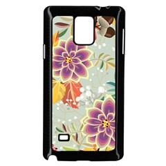 Autumn Flowers Pattern 9 Samsung Galaxy Note 4 Case (black)
