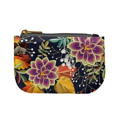 Autumn Flowers Pattern 10 Mini Coin Purses