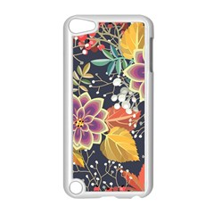 Autumn Flowers Pattern 10 Apple Ipod Touch 5 Case (white)