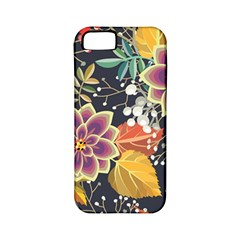 Autumn Flowers Pattern 10 Apple Iphone 5 Classic Hardshell Case (pc+silicone)
